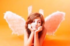 Anjo com asas espalhadas imagens de stock royalty free