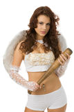 Anjo com bastão Imagem de Stock