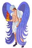 Anjo com censer do incêndio ilustração stock