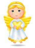 Anjo com coração Foto de Stock Royalty Free