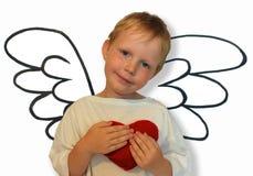 Anjo com coração Imagens de Stock