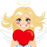 Anjo com coração ilustração royalty free