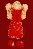 Anjo com coração vermelho fotos de stock royalty free