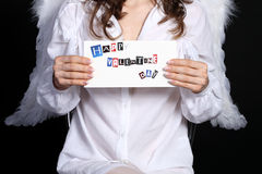 Anjo com envelope Fotografia de Stock