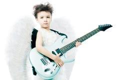 Anjo com sua guitarra Imagens de Stock Royalty Free