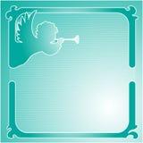 Anjo com uma tubulação, quadro Foto de Stock
