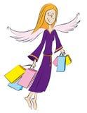 Anjo, comprando ilustração royalty free