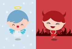 Anjo contra o diabo Fotos de Stock