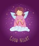 Anjo da boa noite Fotos de Stock Royalty Free