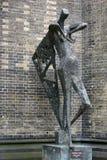 Anjo da fêmea da escultura Imagens de Stock Royalty Free