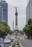 Anjo da independência e do Paseo de la Reforma, Cidade do México Fotografia de Stock Royalty Free