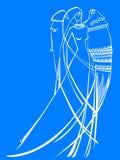 Anjo da luz ilustração do vetor