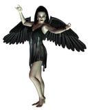 Anjo da morte - braços levantados Fotos de Stock