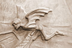 Anjo da morte (sepia-tonificada) Fotos de Stock Royalty Free