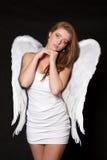 Anjo da mulher imagens de stock