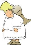 Anjo da mulher ilustração royalty free