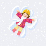 Anjo da neve Fotos de Stock Royalty Free