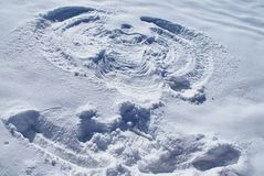 Anjo da neve Lago-Naki, Caucasian principal Ridge, Rússia fotografia de stock royalty free