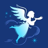 Anjo da silhueta Fotografia de Stock Royalty Free