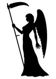 Anjo da silhueta da morte Fotos de Stock Royalty Free