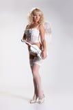 Anjo de Blondie com violino Imagem de Stock Royalty Free