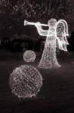 Anjo de brilho e bolas Imagens de Stock
