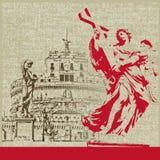Anjo de Castel Sant do vintage Imagem de Stock