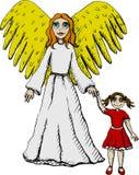 Anjo de guardião ilustração stock
