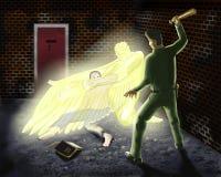 Anjo de guardião de protecção ilustração stock