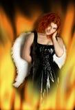Anjo de inferno Fotografia de Stock