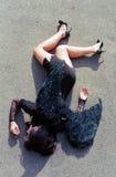 Anjo de queda na terra Imagens de Stock Royalty Free