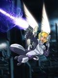 Anjo de Techno imagem de stock
