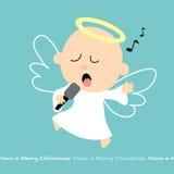 Anjo do canto Foto de Stock Royalty Free
