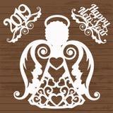 Anjo do estêncil ilustração royalty free