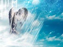 Anjo do inverno imagem de stock