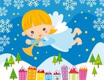Anjo do Natal Fotografia de Stock