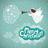 Anjo do Natal Fotos de Stock Royalty Free