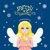 Anjo do Natal com estrela Imagem de Stock