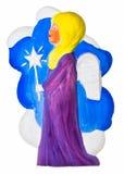 Anjo do Natal com estrela Fotos de Stock Royalty Free