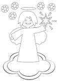 Anjo do Natal com a estrela Imagens de Stock