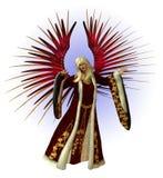 Anjo do Natal - com trajeto de grampeamento ilustração royalty free