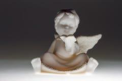 Anjo do Natal da leitura Fotografia de Stock