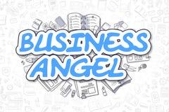 Anjo do negócio - inscrição do azul da garatuja Conceito do negócio ilustração royalty free
