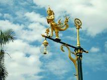 Anjo do ouro no polo Fotografia de Stock
