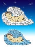 anjo do sono Ilustração Stock
