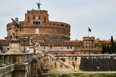 Anjo do St do castelo roma fotografia de stock royalty free
