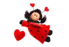 Anjo do vôo com coração Foto de Stock Royalty Free