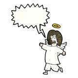 anjo dos desenhos animados com bolha do discurso Imagens de Stock Royalty Free