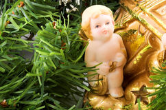 Anjo e árvore imagem de stock royalty free