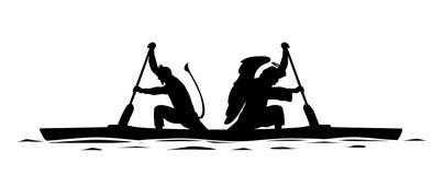 Anjo e demônio no mesmo barco ilustração royalty free